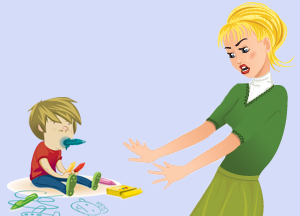 mother-preventing-child-from-eating-crayon